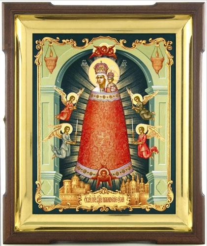 """Икона  """"Прибавление ума """" необычна.  На ней Пресвятая Богородица и Младенец как будто спеленатые вместе..."""